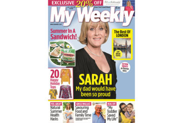 My Weekly latest issue July 9 2019 with Sarah Lancashire and summer in a sandwich
