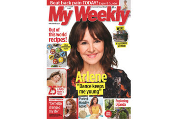 Cover of my weekly latest issue july 16, 2019 with Arlene Phillips and moon themed cookery