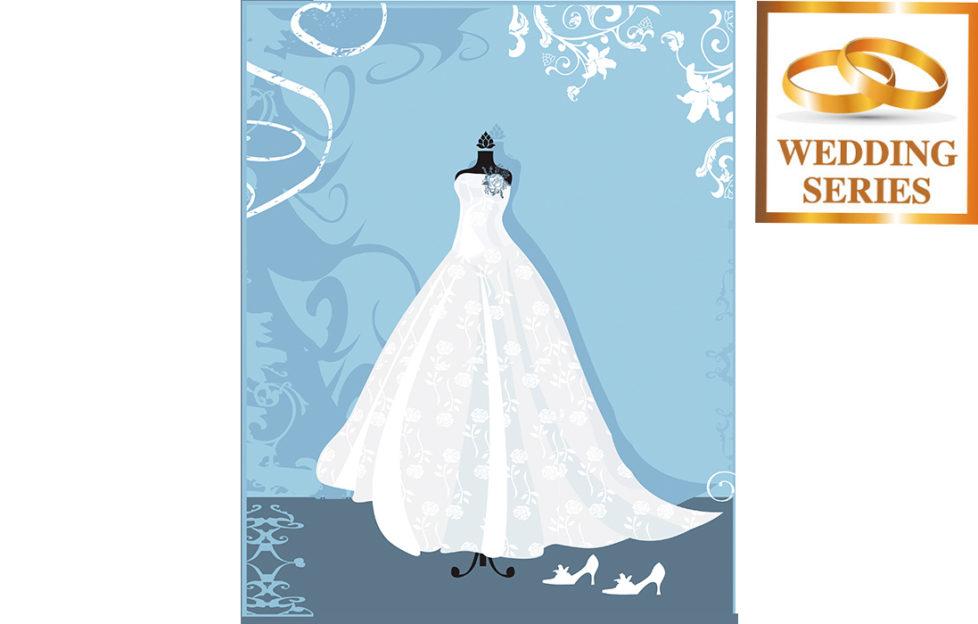 Illustration for My Weekly wedding fictionof wedding dress in shop window
