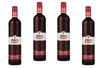 4 bottles of Black Tower smooth red