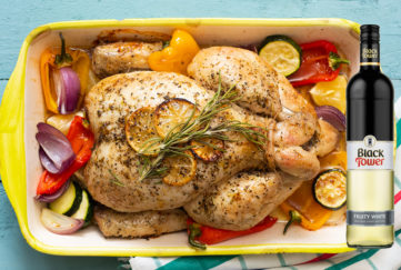 Italian Summer Chicken Roast