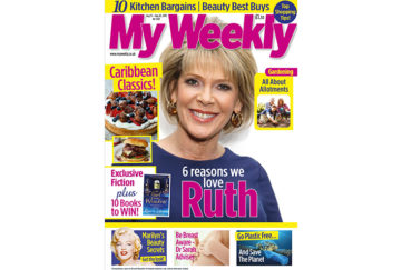 Cover of My Weekly latest issue august 13 with Ruth Langsford and Caribbean cookery