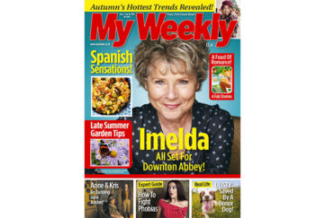Cover of My Weekly latest issue with Imelda Staunton and Spanish cookery