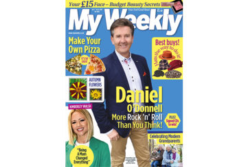 Cover of My Weekly latest issue october 1 with Daniel O'Donnell and pizza recipes