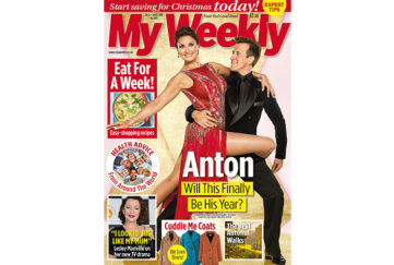 Cover of My Weekly latest issue October 8 with Anton du Beke and 7-day meal planner