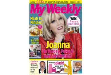 Cover of My Weekly latest issue with Joanna Lumley and meals in minutes