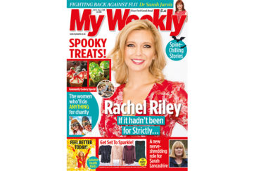 Cover of My Weekly latest issue, with Rachel Riley and spooky treats cookery