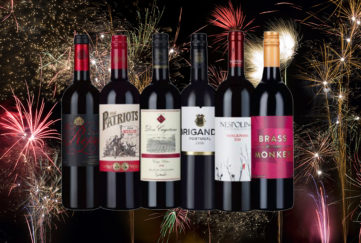6 red wines with fireworks background Pic: Istockphoto