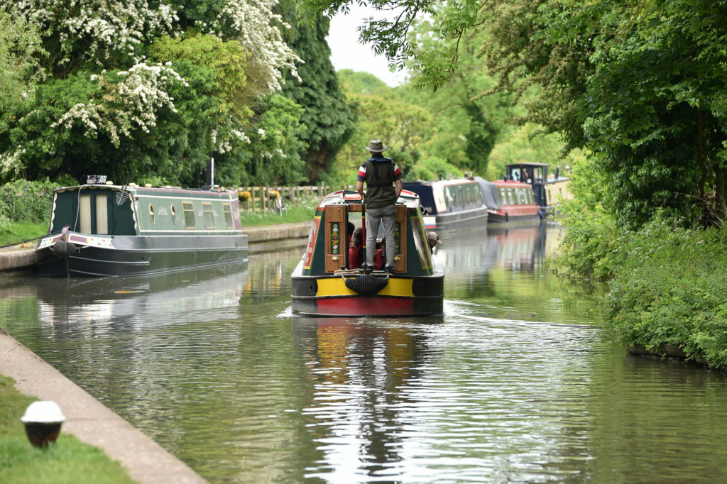 Canal boats on Braunston Canal