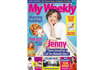 Cover of my weekly latest issue january 14 with Jenny Agutter and warming puddings