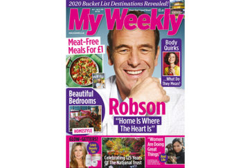 Cover of My Weekly latest issue Jan 7 with Robson Green and Miguel Barclay £1 meals