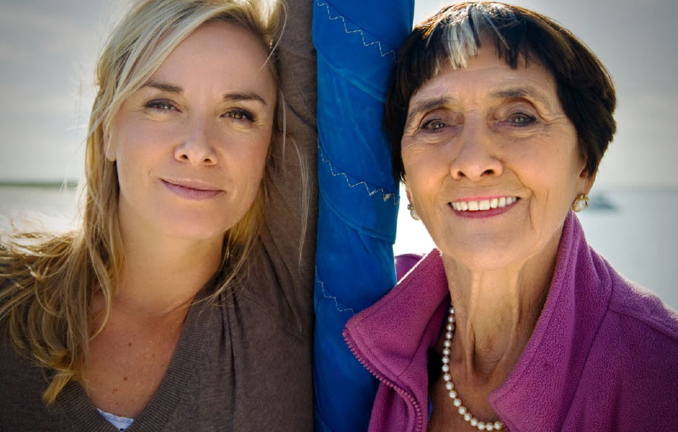 Tamzin Outhwaite and June Brown
