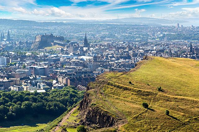 Cityscape of Edinburgh from Arthur's Seat Pic: Shutterstock